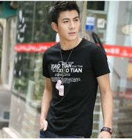 Wholesale brand Men T-Shirts,man tshirts, round neck T shirts, fashion  t shirt free china post shipping  size XL