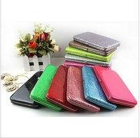 candy color small boxes long design clip bling bling women's wallets
