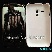 RETAIL, Captain America Case for Galaxy S3 mini Hero Case, For Samsung i8190 Hard Cover, FREE SHIP