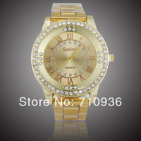 High Quality Gold Plated Men Brand Watch,Japan Movement Quartz Watches Men Dress Jewelry,Free shipping