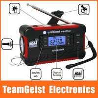 American Hand Crank digital radio Emergency Solar Mobile Charger Dynamo Digital AM/FM NOAA Weather Alert Radio 3 LED flashlight