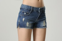 free shipping size 26-31 brand ladies cotton stretch denim shorts classical vintage fashion denim shorts WLP13020