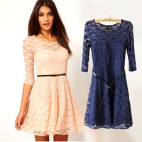 Hollow Lace Dress New Spring Women Clothes Skirt