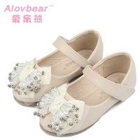 Big girls shoes rhinestone elegant casual gentlewomen genuine leather children shoes