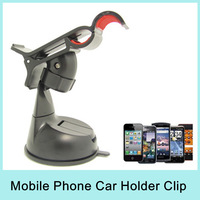 Car Holder Clip Mount for iPhone 4 4S 5 5S for HTC One for Samsung Galaxy S4 S5 Note3 (5Colors) For MP4/GPS Drop Shipping