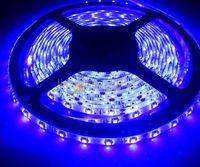 Hot! DC12V 5M/Lot 3528 SMD 300 Leds Ultraviolet UV 395-405nm Purple Waterproof Flexible LED Strip Light Free Shipping!