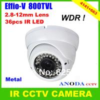 Latest High Performance Super WDR 800TVL Sony Effio-V CXD4141GG DSP OSD Menu Vandalproof IR Outdoor Using Dome CCTV Camera