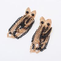 Promotion Bohemian Retro Owl Earring Pendant Earring chain gold Statement Earring