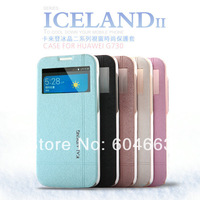 Free shipping Original Kalaideng Iceland series Flip Leather case For Huawei G730 slim flip cover + retail box