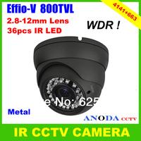 Sony Effio-V CXD4141GG High Resolution 800TVL WDR Sense-up OSD Menu Outdoor Dome Security CCTV IR Camera