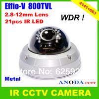 Sony Effio-V CXD4141GG 800TVL WDR Sense-up OSD Menu Outdoor Dome Security CCTV IR Camera
