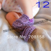 free shipping, Baby Toddler Crochet Knit Prewalker Socks Crib Shoes Handmade 150pair
