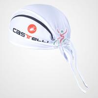 CASTELLI CAS white Headband bike Cycling Team hat Cap cycle pirates hood Bike bicycle sweat