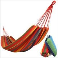 Whole sale , Freeshipping camping hammock swing outdoor thickening canvas hammock casual single hammock 280*80cm