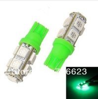 500X T10 9 SMD 5050 led Car 194 168 192 W5W reading door Light Automobile Instrument Lamp Wedge Interior Bulbs 7colors
