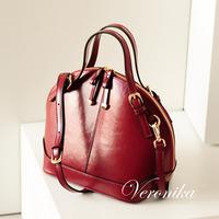 2014 magazine hot-selling small vintage one shoulder cross-body women's cowhide handbag