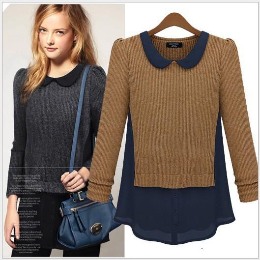 EAST KNITTIN Wholesale 5pce/lot QN-214 sweaters 2013 women fashion Mess jacket turtleneck sweater fashion dolls S M L XL(China (Mainland))