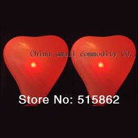 customize color red color  LED balloon heart red light for party Valentine's day wedding free shipping