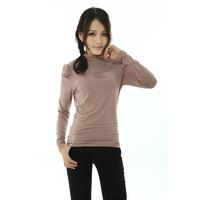 New arrival 2013 lace long-sleeve basic shirt female slim t-shirt turtleneck top cotton women's basic shirt