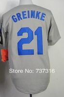 Cheap Sale,#21 Zack Greinke Men's Gray 2014 New Baseball Jersey Stitched baseball best ,Free Shipping,wholesale
