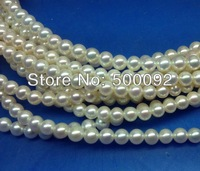 AA wholesale 5-6mm Round freshwater pearl strands