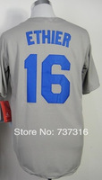 Cheap Sale,#16 Andre Ethier Men's Gray 2014 New Baseball Jersey Stitched baseball best ,Free Shipping,wholesale