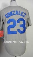 Cheap Sale,#23 Adrian Gonzalez Men's Gray 2014 New Baseball Jersey Stitched baseball best ,Free Shipping,wholesale