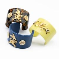 Cute frog swallow cuff bracelet bangle