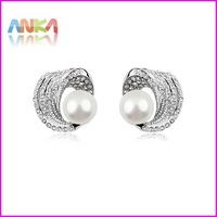 Wholesale! women new fashion 2014 summer spring pearl earrings made with Swarovski elements pearl #95479
