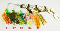 Hot sale 5pcs 16.3G spinner bait,buzz bait,fishing lure,fishing bait,fishing spoons,rubber jig spinner lure(bait) free shipping