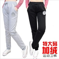 The new autumn and winter large size women's casual thick  fleece warm pants feet pants XL,2XL,XXXL,3XL,XXXXL,4XL free shipping