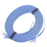 RJ45 CAT6a Cat6 Flat Ethernet Patch Network Lan Cable 20m