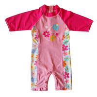New 2014 children swimwear girls bathing suit baby uv protection surfing children's clothing
