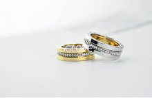SGLOVE Wellknown Series 18K Gold Plated and 100 Austrian Crystal Circle Setting Ring with Perfect Lines