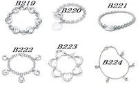 H207 Free Shipping Wholesale 925 silver bracelet, 925 silver fashion jewelry Twisted Line Bracelet /cctakuaatl