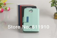 Book Style Wallet Leather Case Stand Cover with Credit Card Slots for Nokia Asha 503 Free Shipping
