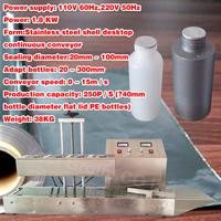 hot sale, 110V/220V ,Desktop air-cooled continuous electromagnetic induction sealing machine
