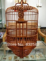 36cm China tradition desgin Hua mei birdcage San guo history major paint handmade bamboo birdcage free shipping