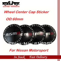 4pcs/lot 60mm Car badge sticker on wheel Center Cap sticker car logo for Nissan Motersport