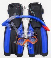 Adjustable short fins adult diving fins adjust submersible mirror breathing tube