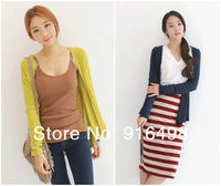 2014Hot ON SALE autumn casual dress new style cardigan jacket 8 color L-XXXL Free shipping1465