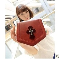 Women's shoulder bag handbag red black women's handbag