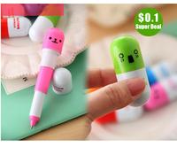1pcs Pupils prizes Children cartoon character child cute retractable ballpoint pen tablets Korea creative stationery Wholesale