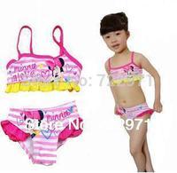 girl baby Minie fission swimsuit children beach wear children cute bathing swimwear