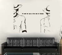 Free Shipping Wholesale and Retail One Piece Wall Stickers Wall Decors Wall Covering Home Decor Wall Paper