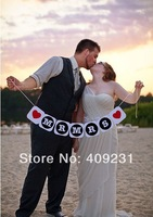 Free Shipping 2 sets thanks you Mr Mrs letter  Wedding Vintage Bunting Banner Party Decorations Prop DIY Handmade