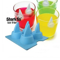2014 New arrive Drink Party Ice Tray Cool Shark Fin Shape Freeze Silicone Ice Cube Ice Mold Maker Mould free shipping