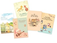 YF13-618    5pcs/lots  (32pcs in a book )South Korea  time partner postcard notebook /creative CARDS