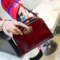 [3/25 Shopping Festival] 2014  mini lock bag vintage oil skin PU leather portable small bag cute bags women's cross-body handbag