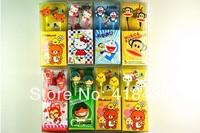 Cartoon Popois-ear headphones Piece bear cats and birds monkeys kitty cute animal earphone MP3/MP4 phone headphones 50pcs
